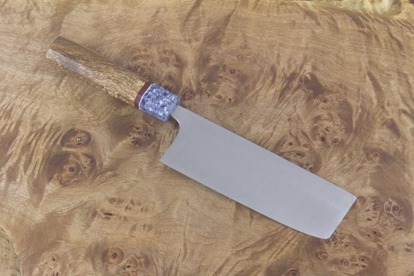4.75 sun High Grade Nakiri, Custom Handle - 154 grams