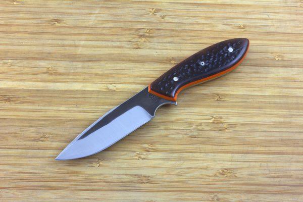 188mm Vex Clip Neck Knife, Forge Finish, G10 / Jig Bone - 99grams