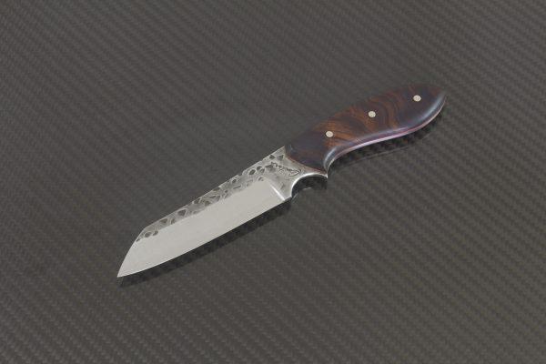 196mm, Wharncliffe Brute, Neck Knife, Arizona Desert Ironwood / Red Liner -97 Grams