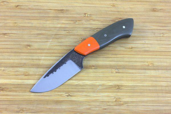 196mm Kajiki Knife, Hammer Finish, G10 / Carbon Fiber - 123grams