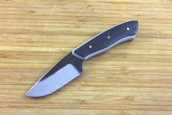 196mm Kajiki Knife, Forge Finish, G10 / Carbon Fiber - 146grams