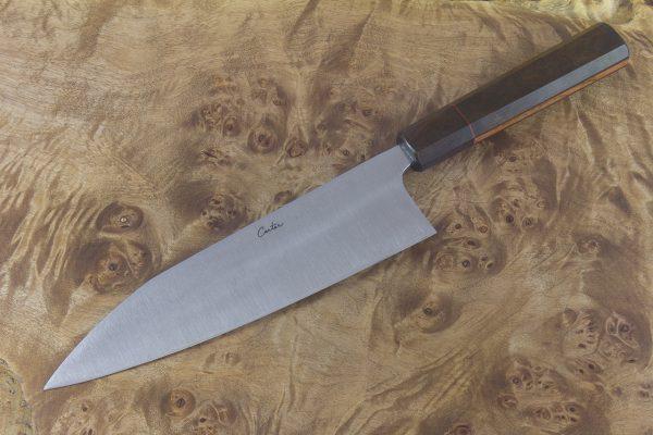 6.8 sun High Grade Kiritsuke, Custom Handle - 185 grams