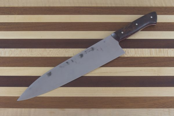 8.15sun Muteki Gyuto, Ironwood Handle Red Liner - 223 grams