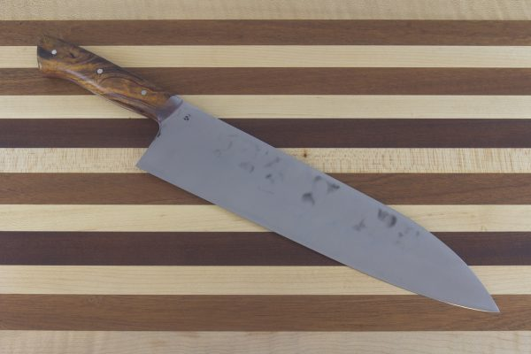 8.75sun, Muteki Gyuto, Ironwood Handle Red Liner, #556 - 224 grams