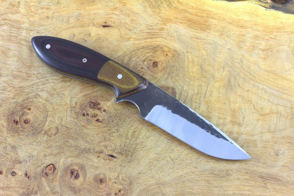 189mm Perfect Model Hammer Finished, Aged Canvas Micarta Bolster w/ Black & Red G10 - 103 grams