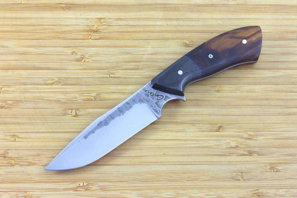 202mm Aviator Neck Knife, Hammer Finish, Carbon Fiber / Ironwood - 112grams