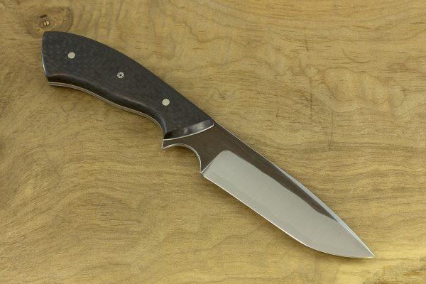196mm Aviator Neck Knife, Forge Finish, Carbon Fiber - 87grams