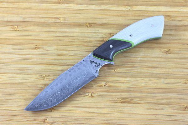 202mm Aviator Neck Knife, Hammer Finish, Carbon Fiber / G10 - 127grams