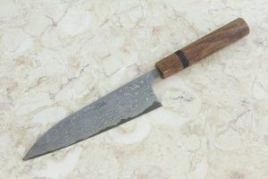 5.48 sun High Grade Series Freestyle Funayuki, Damascus, Spalted Maple - 113 grams