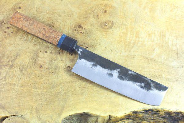 5.45 sun Kuro-uchi Series Nakiri, Custom Handle - 144 grams