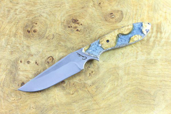 183mm Tombo Neck Knife, Forge Finish - polished, [BWP] ShokWood - 83 grams