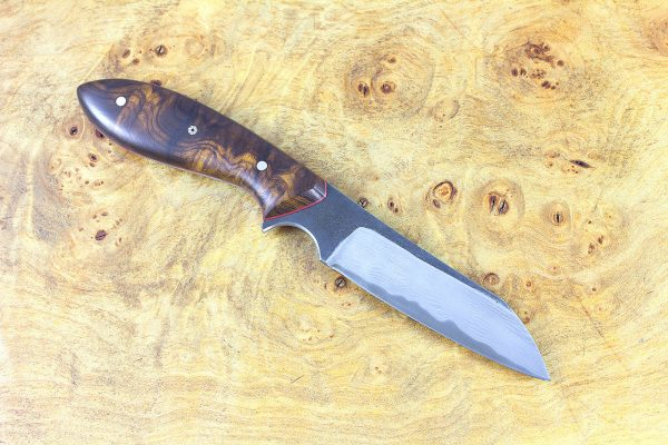 *SECOND* 187mm Wharncliffe Brute Neck Knife, Damascus, Ironwood - 83 grams