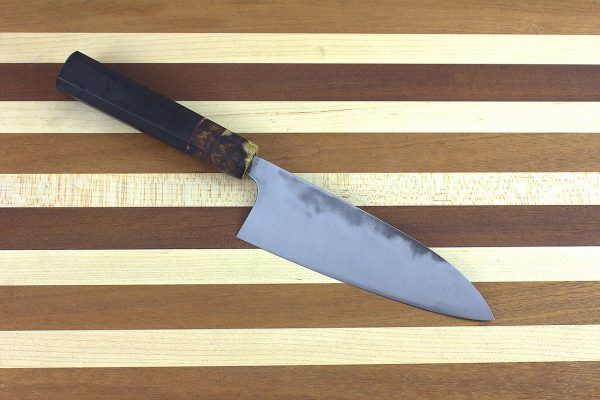 4.98 sun Stainless Fukugo-zai [polished] Funayuki, Custom Handle - 134 grams