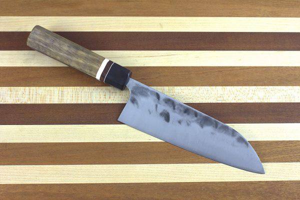 5.71 sun Stainless Fukugo-zai [polished] Wa-bocho, Custom Handle - 157 grams
