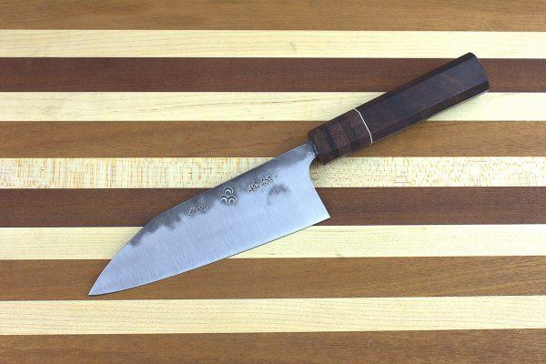 5.12 sun Stainless Fukugo-zai [polished] Wa-bocho, Custom Handle - 142 grams