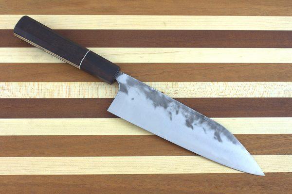 6.4 sun Stainless Fukugo-zai [polished] Wa-bocho, Custom Handle - 175 grams