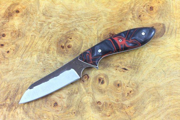 176mm Wharncliffe Brute Neck Knife, Hammer Finish, Kirinite - 81 grams