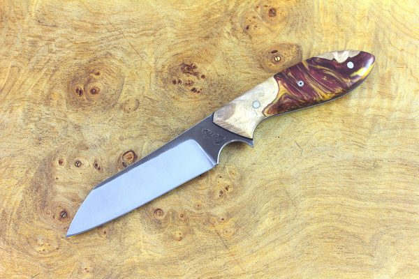 189mm Wharncliffe Brute Neck Knife, Forge Finish, (BWP) ShokWood - 89 grams
