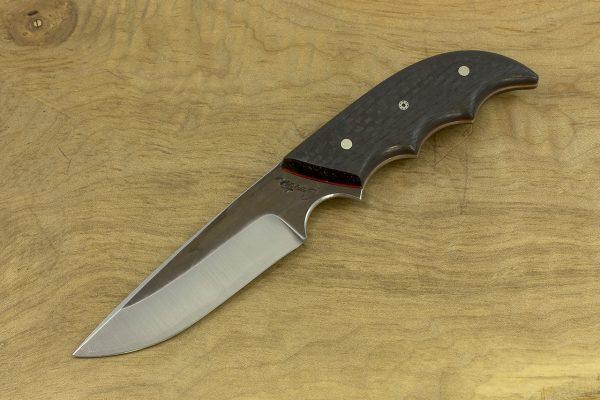 172mm Combat Neck Knife, Forge Finish, Carbon Fiber - 76grams