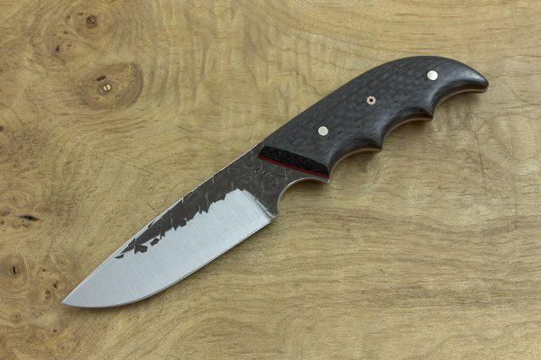 173mm Combat Neck Knife, Hammer Finish, Carbon Fiber - 82grams