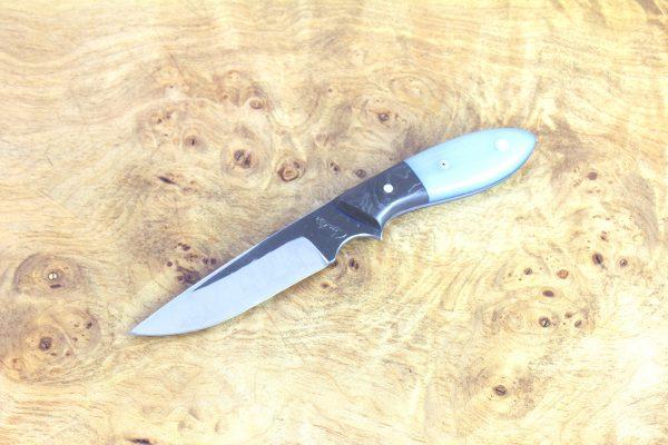 170mm Compact Original Neck Knife, Forge Finish, Carbon Fiber / G10 - 69grams