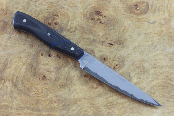 203mm Tactical Office Neck Knife, Damascus, Carbon Fiber - 71grams