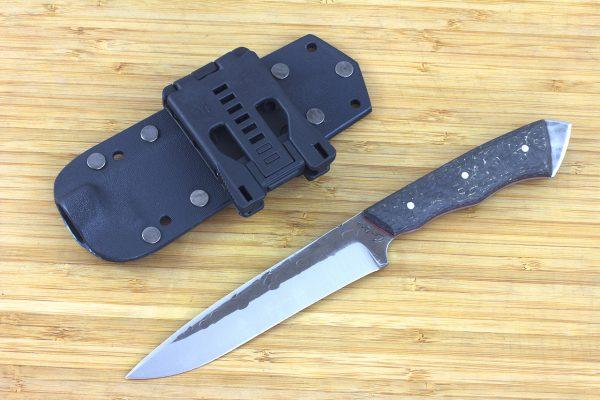 FS1 Knife Prototype #15, Striker Pommel, Super Blue Steel, Hybrid Carbon Fiber - 141grams