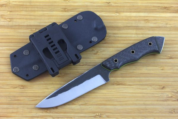 236mm FS Knife #8, Striker Pommel, Super Blue Steel, Carbon Fiber / G10 - 129grams