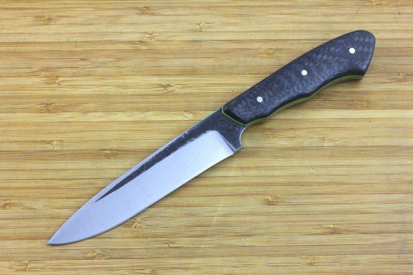 241mm FS Knife #7, Super Blue Steel, Carbon Fiber / G10 - 174grams