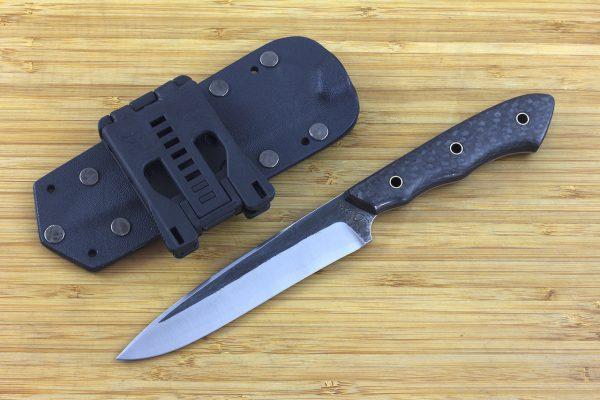 243mm FS Knife #13, Super Blue Steel, Carbon Fiber - 119grams