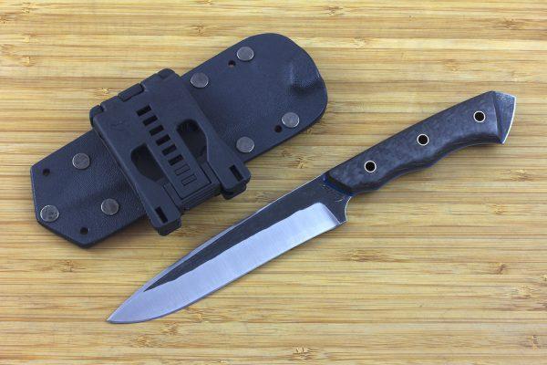 245mm FS Knife #12, Striker Pommel, Super Blue Steel, Carbon Fiber / G10 - 116grams