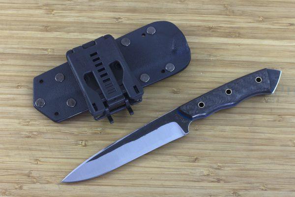 245mm FS Knife Prototype, Aogami Super Blue Steel, Carbon Fiber / G10 - 123grams