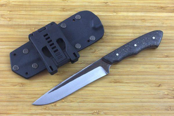 245mm FS Knife #10, Super Blue Steel, Hybrid Carbon Fiber - 149grams