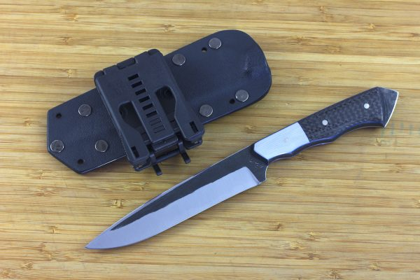 246mm FS Knife Prototype #3, Super Blue Steel, Carbon Fiber / G10 - 115grams