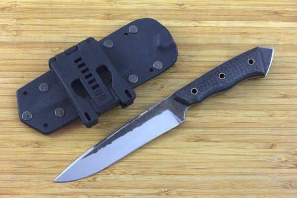 249mm FS Knife #9, Striker Pommel, Super Blue Steel, Carbon Fiber - 153grams