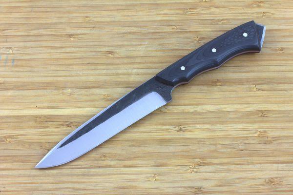 246 mm FS1 Knife #23, Super Blue Steel, Unidirectional Carbon Fiber - 144 grams