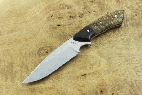 208mm Freestyle Neck Knife, Damascus, Ironwood / Hawaiian Mango Tree