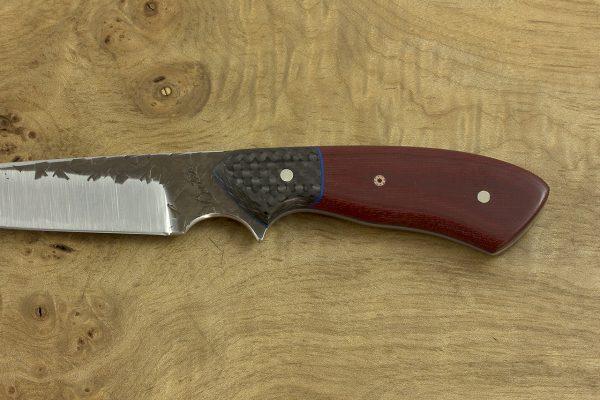 *LIMITED* 194mm Freestyle Neck Knife, Hammer Finish, Carbon Fiber / Micarta - 87grams
