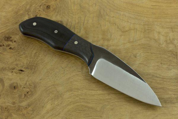 181mm G Series Knife Prototype 2, Forge Finish, Carbon Fiber / Micarta - 101grams