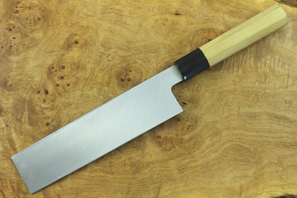 215mm Shiro-ko Honyaki Usuba #9, Mirror Finish - 239grams