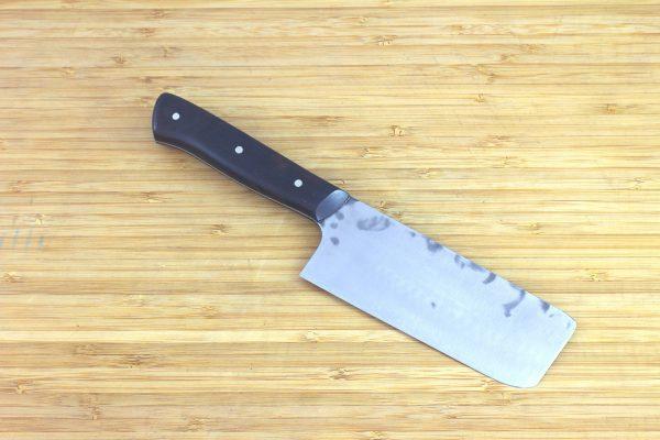 4.09 sun Muteki Series Nakiri Knife #256, Ironwood - 141grams