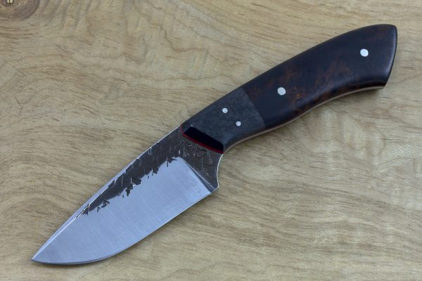 198mm Kajiki Knife, Hammer Finish, Carbon Fiber and Ironwood - 123grams #2
