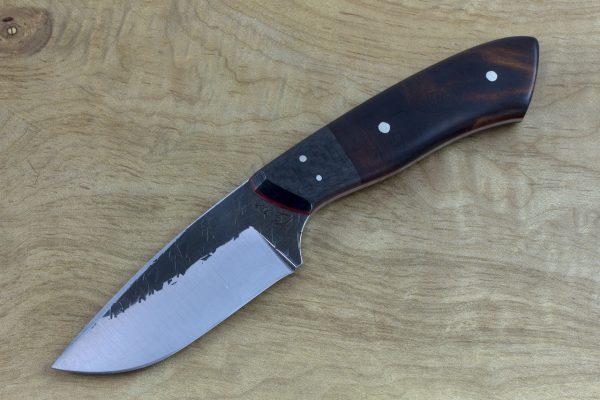 197mm Kajiki Knife, Hammer Finish, Carbon Fiber and Ironwood - 128grams #3