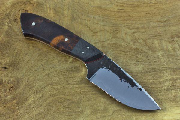 206mm Jumbo Kajiki Knife, Hammer Finish, Carbon Fiber and Ironwood - 148grams