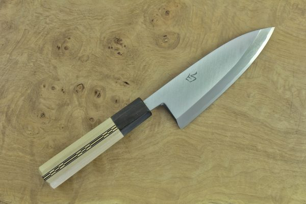139mm Shiro-ko Kasumi Deba #17, Satin Finish - 185grams