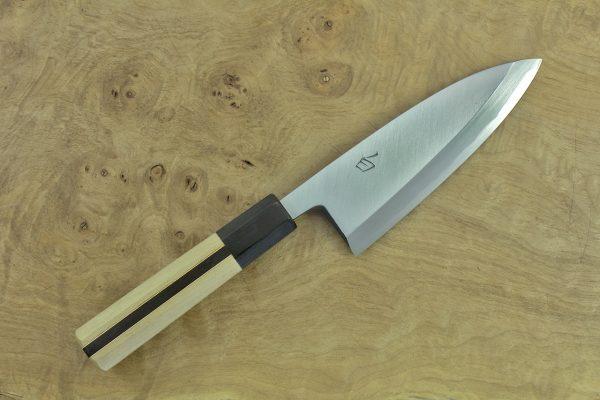 138mm Shiro-ko Kasumi Deba #18, Satin Finish - 172grams