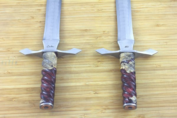 325 mm MasterSmith Dagger, Damascus, ShokWood - 303 grams