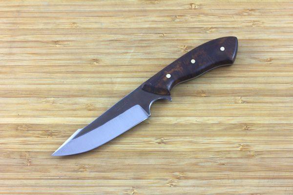 196mm Muteki Series Aviator Harpoon Neck Knife #260, Ironwood - 98grams