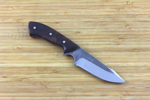 195 mm Muteki Series Neck Knife #292, Aviator 'Harpoon' Model, Ironwood - 103 grams
