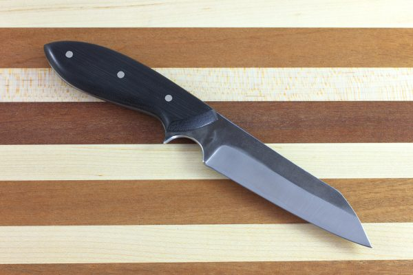 205mm Muteki Series Wharncliffe Brute Neck Knife #145, Micarta - 113grams